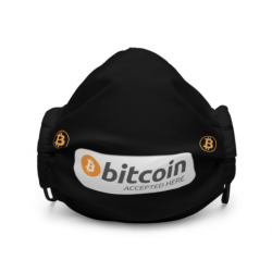 Bitcoin Accepted Here Mask