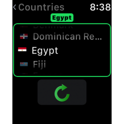 Scroll to another country