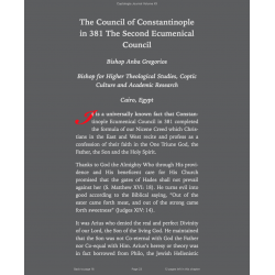 The Council of Constantinople