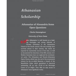 Athanasian Scholarship