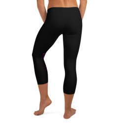 Black Capri Leggings -...