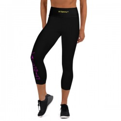 Black Yoga Capri Leggings -...